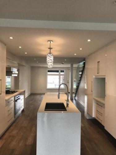 kitchen/ living room after making